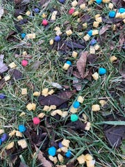 These piles of Cap'n Crunch's Crunch Berries left for