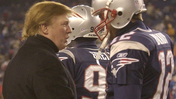 Donald Trump and Tom Brady (in 2004)