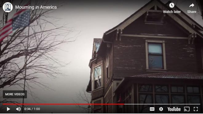 """A screen shot of the Lincoln Project's """"Mourning in America"""" ad."""