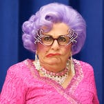 Dame Edna has been to the McCallum twice before, once in 2006 and again in 2009. Her quick wit (including one very funny moment with Debbie Reynolds), improvisational skills and offbeat sense of humor certainly resonated with audiences in the desert.