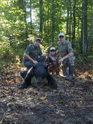 10-year-old Parker Miller shot this bear Sept 20, hunting