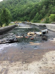 A tanker spill has shut down Interstate 40 near the