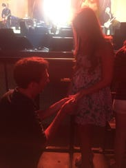 Salyna Webber and Jeff Hubbell getting engaged while