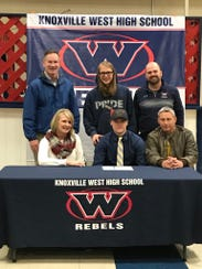 Logan Bowers signs a letter of intent to play football