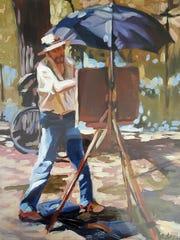 Portrait of Sevan Melikyan, working outdoors, is by Allie Regan.