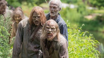 Alexandria is in trouble with the arrival of unwelcome walker guests on AMC's 'The Walking Dead.'