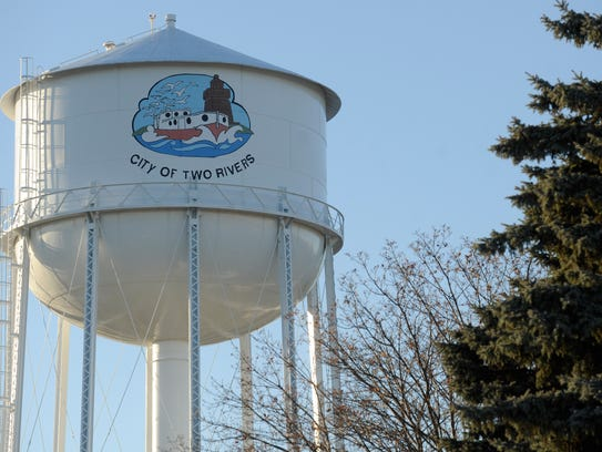 Two Rivers water tower.