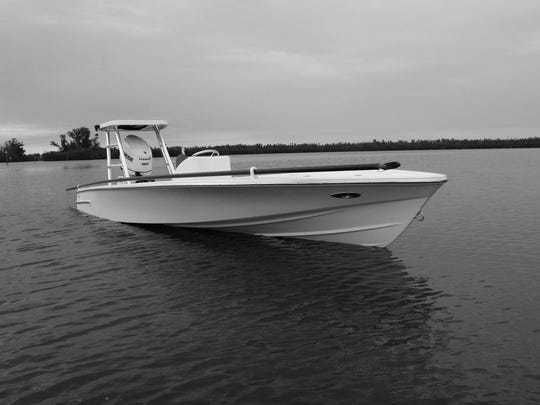 The Dragonfly 17 built by Dragonfly Boatworks in Vero Beach will be one of four boats and several paddleboards on display at the Palm Beach Boat Show next week.