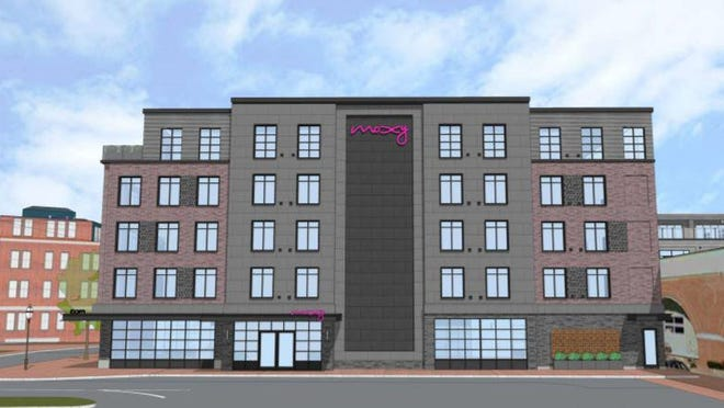 Plans for a five-story Moxy Hotel on Green Street in Portsmouth have been withdrawn.