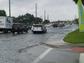 U.S. 1 was flooding at Jensen Beach Boulevard on Wednesday,