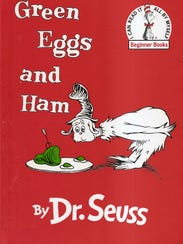 """Cover of """"Green Eggs and Ham,"""" by Dr. Seuss."""