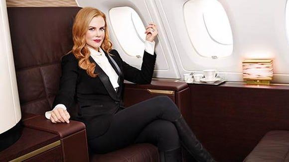 Etihad Airways has enlisted Nicole Kidman to serve