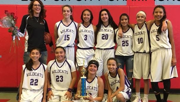 Camino Real Middle School girls' basketball team.