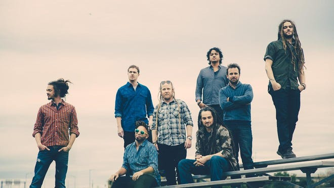 SOJA, which includes Delaware native Trevor Young (far right), will perform Aug. 17 at Seacrets in Ocean City, Maryland.