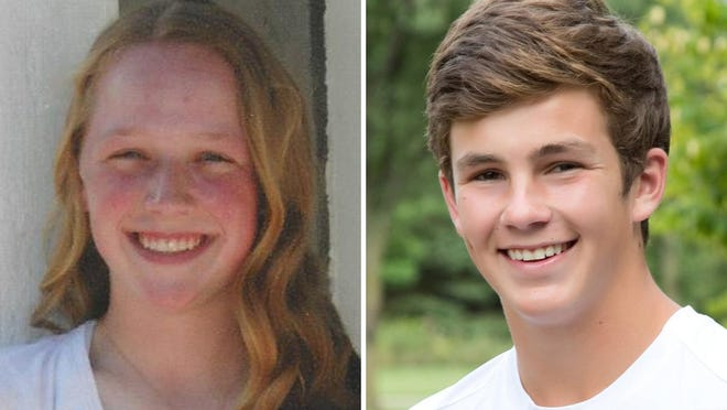 Melissa Srnka and Zachary Parks of St. Mary Catholic High School are this week's top scholars.