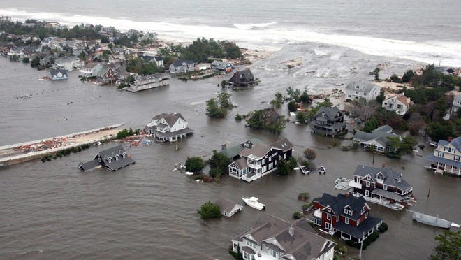Flooding from Superstorm Sandy in Mantoloking on Oct.30, 2012.