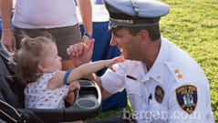 Saddle Brook Night Out: Audrey enjoyed being with Police Chief Robert Kugler