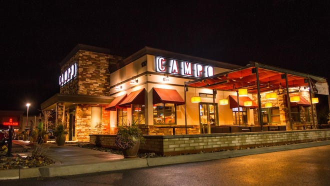 Campo Sparks, in the Sparks Crossing center on Los Altos Parkway, is shown at the time of its opening in June 2016. The restaurant is closing temporarily on Jan. 25, 2019, to become a more casual spot.