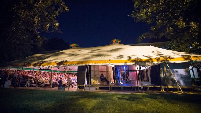 Missouri State University's Tent Theatre, founded in 1963, has been working with talent represented by the Actors Equity Association union since 2008, allowing student actors to work side-by-side with experienced professionals.