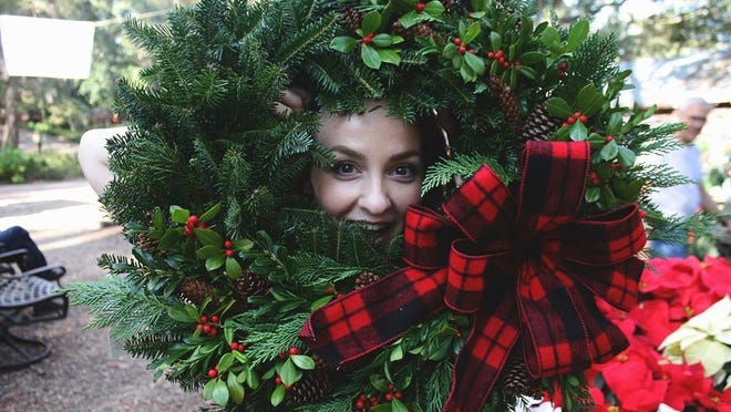 Look for wreaths and other holiday decor at the Native Nurseries open house on Sunday.