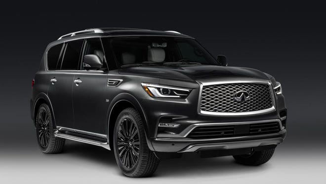 The QX80 doesn't feel as large inside as its boxy exterior suggests.