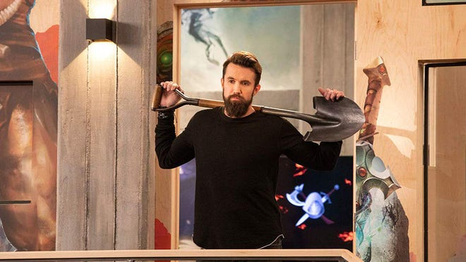 """Rob McElhenney stars as Ian Grimm, the creative director of the titular video game """"Mythic Quest: Raven's Banquet."""""""
