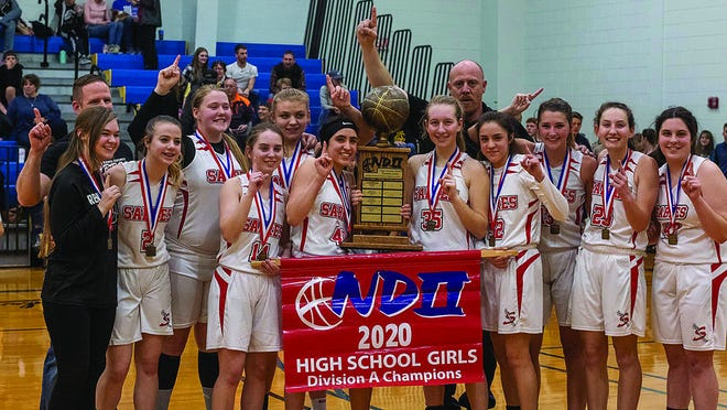 Janaya and Lianna Washington from rural Pratt County won a state basketball tournament title with their homeschool team, the Hutchison Sabres earlier in March.