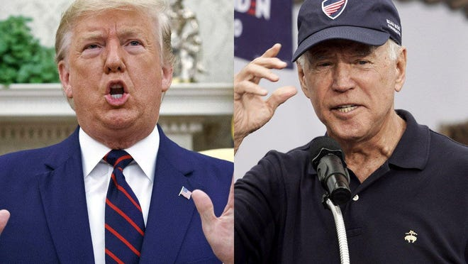 This year's first presidential debate will be held in Cleveland at a facility jointly operated by the Cleveland Clinic and Case Western University. President Donald Trump, left, and Democratic presidential hopeful Joe Biden are expected to participate.