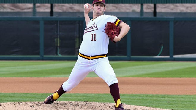 Former Pueblo West standout RJ Dabovich pitched two seasons at Arizona State University. He was drafted by the San Francisco Giants as the 114th pick in round four of the 2020 MLB draft Thursday night. (Courtesy Photo/Richard Martinez).