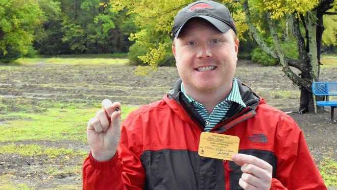 Kevin Kinard of Maumelle found a 9-carat diamond on Labor Day Weekend at Crater of Diamonds State Park.
