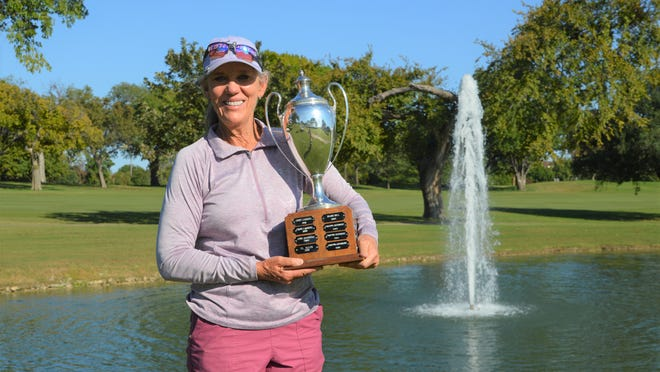 Longtime Lubbock resident Marian Barker won the Texas Golf Association Women's Senior Stroke Play Championship that concluded Wednesday at Ridglea Country Club in Fort Worth. She was victorious by five strokes in the 54-hole tournament.