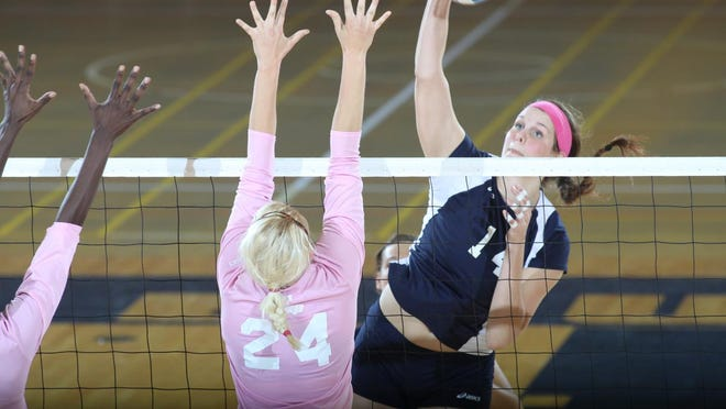 Seaman product Breanna Lewis, a former volleyball All-American at Washburn, is getting set for her first season as head coach at Christian Brothers University in Memphis, Tenn.