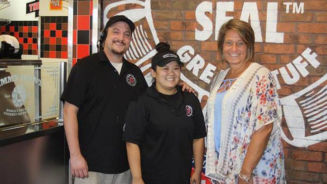 Jimmy John's in Dodge City and the Dodge City Community College partnered to bring gifts to faculty and staff as a return to the classroom is set for Aug. 12. SUBMITTED PHOTO