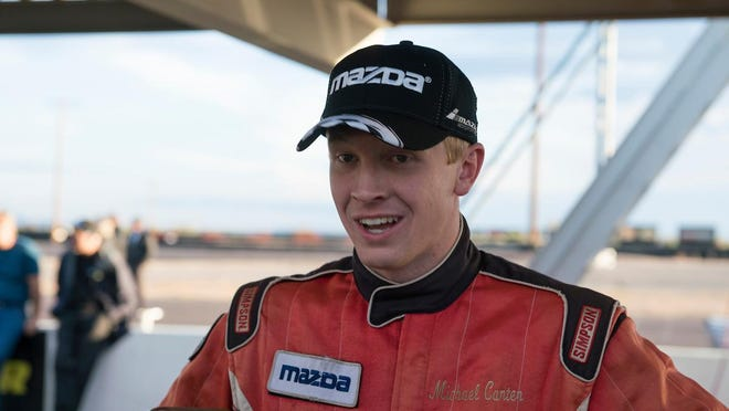 Savannah's Michael Carter at the Mazda Road to 24 Shootout in this file photo.