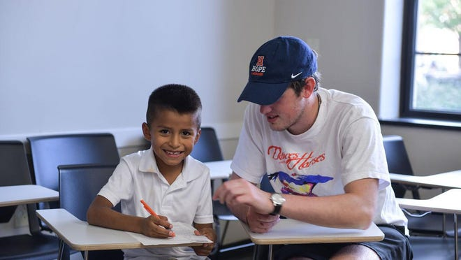 The Children's After School Achievement program at Hope College received funding from the Community Foundation of the Holland/Zeeland Area to provide virtual programming.