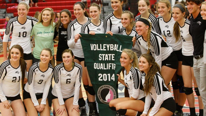 The Ankeny Centennial volleyball team advanced to the state tournament for the second straight year by sweeping Cedar Rapids Jefferson in a Class 5-A regional final. The Jaguars hit .347 as a team en route to a 25-14, 25-18, 25-14 victory.