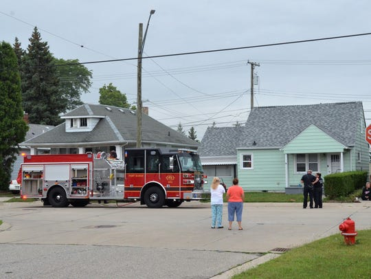 Firefighters extinguished a fire at 435 17th St. in