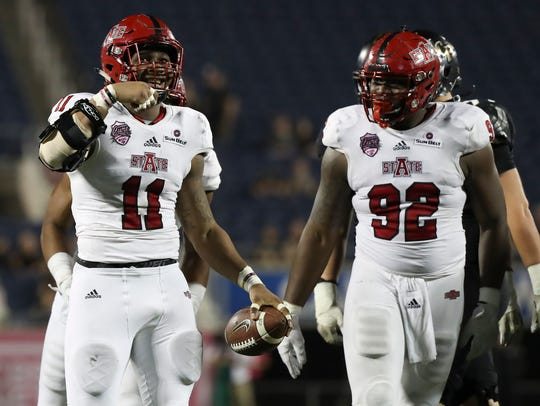 Arkansas State Red Wolves defensive end Ja'Von Rolland-Jones,