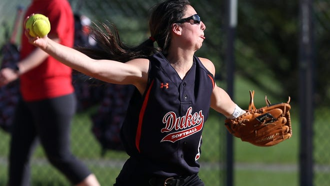 Marlboro's Taylor Felicello pitches against Red Hook on April 28.