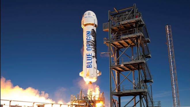 Blue Origin rocket launch in November 2015.