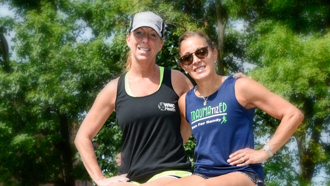 Jean Lavin, left, of Somers and Adele Rushneck of Valhalla will run the New York City Marathon to raise money for different units at Westchester Medical Center.