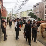 """A street in Yonkers is transformed for filming the show """"The Knick"""" in Yonkers on Wednesday."""