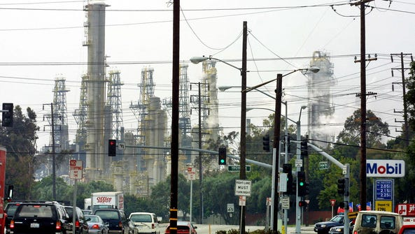 The Torrance refinery is seen in this 2001 file photo