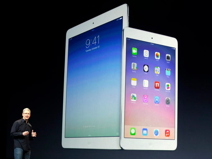 Apple CEO Tim Cook discusses the new iPad Air.
