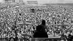 The view from the stage in Asbury Park on Friday, May