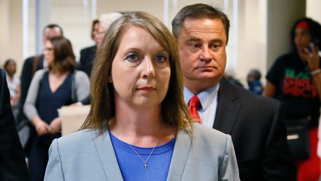 Betty Shelby, who was acquitted in May of fatally shooting an unarmed black man, has submitted her resignation from the police force.