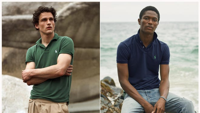 Polo shirts made from recycled plastic bottles. Each shirt is made from an average of 12 bottles collected in Taiwan, where the Polos are made, in partnership with an organization called First Mile.