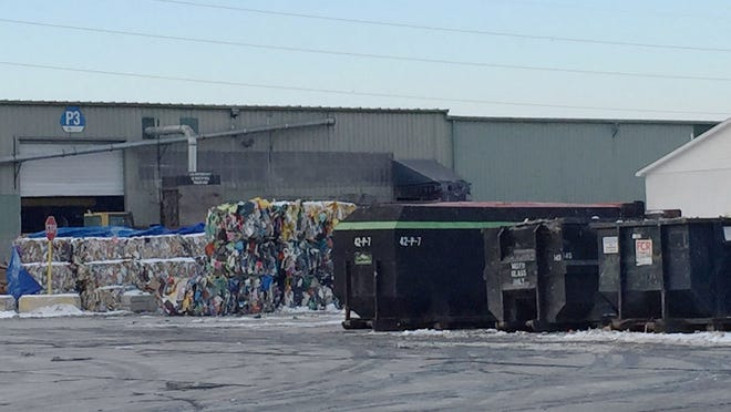 Exterior shot of ReCommunity Recycling in Roseville, where the body of a newborn baby boy was found Wednesday among recyclable materials.
