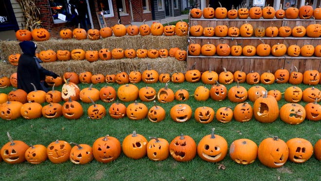 Hundreds of carved pumpkins were displayed at the Harvest Festival in Delafield on Oct. 28. The city of Waukesha has launched a plan to compost Halloween pumpkins and keep them out of landfills.