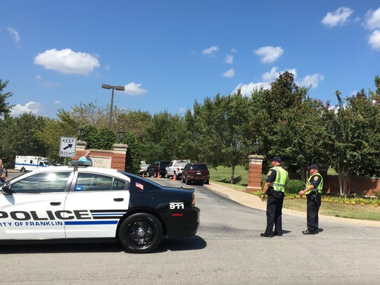 Police are on the scene outside NHC Cool Springs on Sept. 10, 2016 in Franklin.